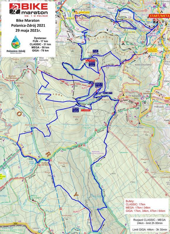 Bike Maraton Polanica – Zdrój. Nowa trasa – zobacz profile